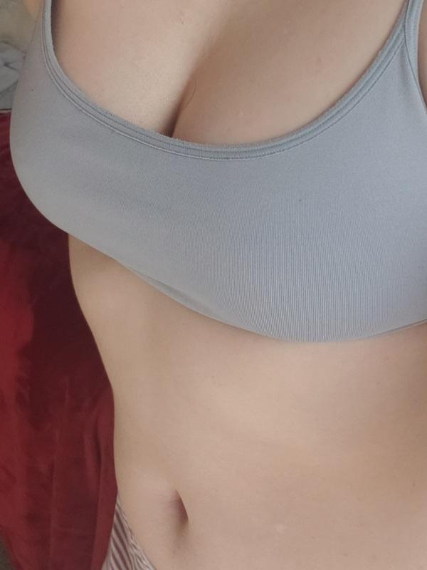 Sweaty Stinky Gray Gap Nylon Spandex Bralette Worn To Order