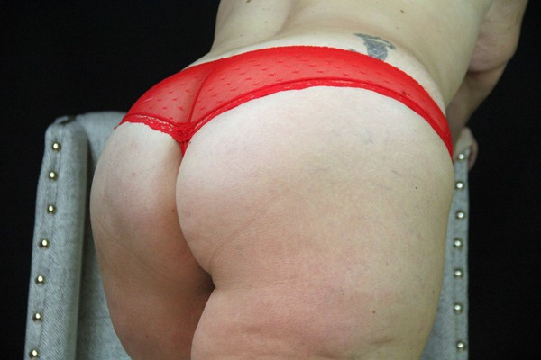 Red Lace Thong