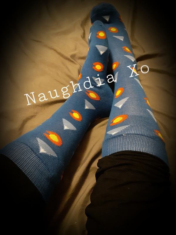 Fun Comfy Long Blue Socks 😍