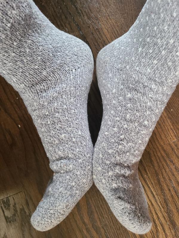Gray fuzzy socks!
