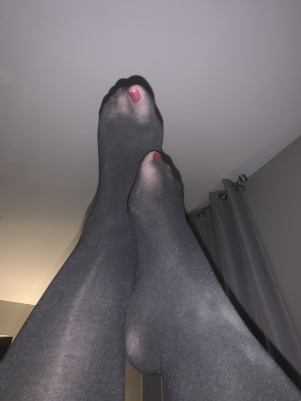 Black High-waisted Pantyhose Ready For A New Home