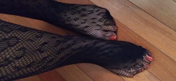 Leopard print stockings, tights