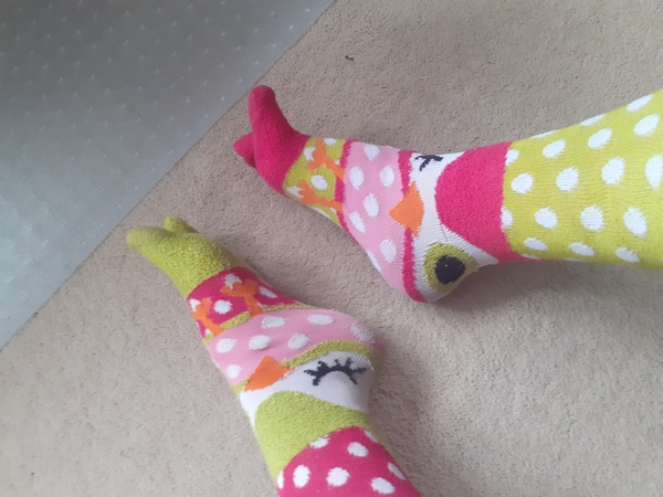 Super fun Owl Toe Socks!