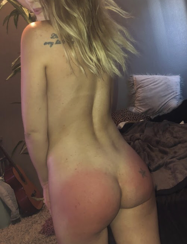 SALE 8:25 minute Video (Tape) of me Spanking My Ass till Bright Red