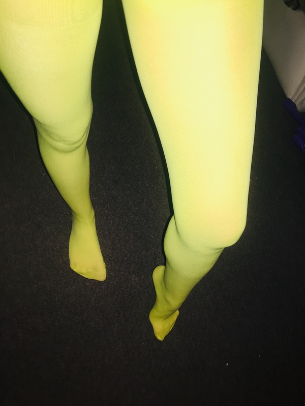 Bright Yellow Sheer Tights😈