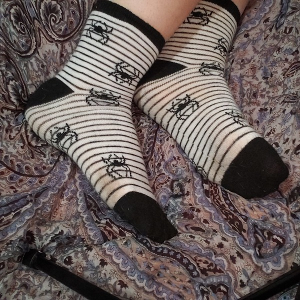 Spooky spider socks fully customizable to your desires 👣👻