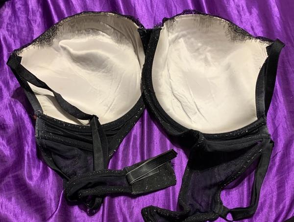 Black lace Victoria's Secret push up bra
