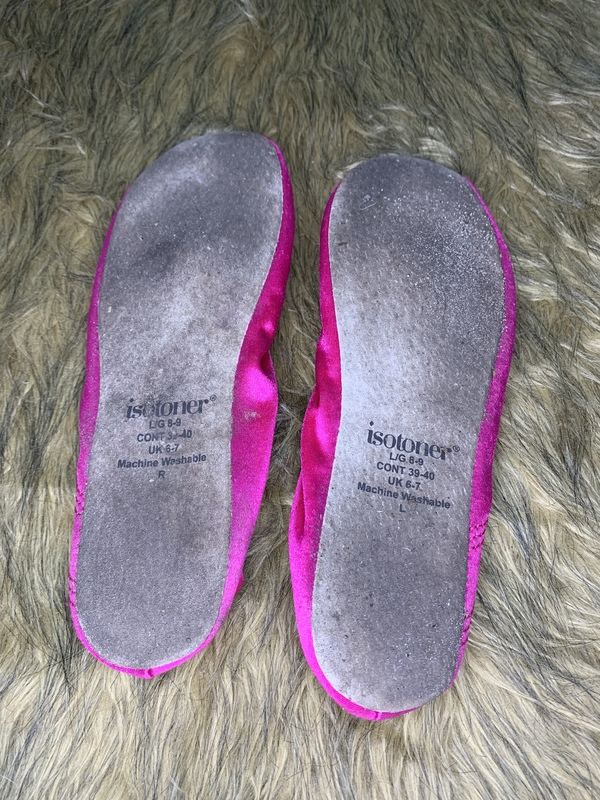 Dirty silky slippers