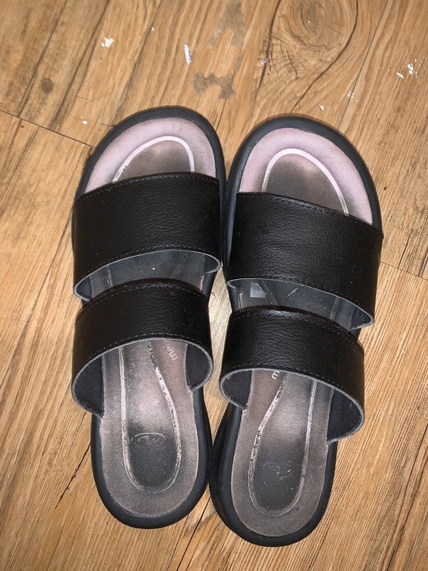 Dirty sandals