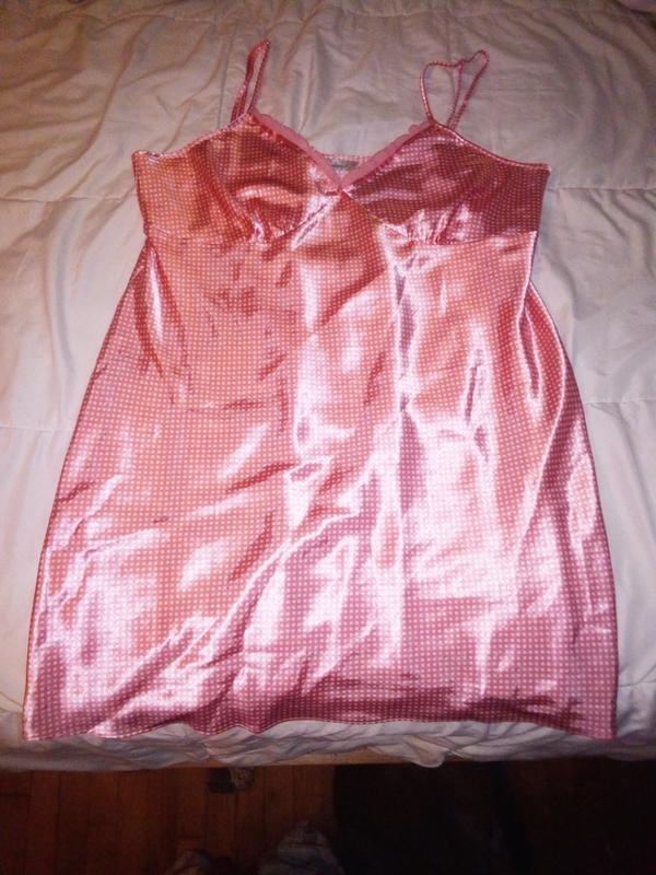 Dainty Pink Polka Dot Negligee