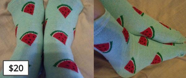Watermelon Green Socks