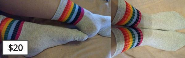 Gray rainbow socks