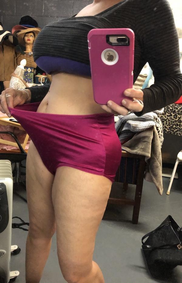 Big Fuchsia Satin Grannie Panties Fullbacks~ Customize!