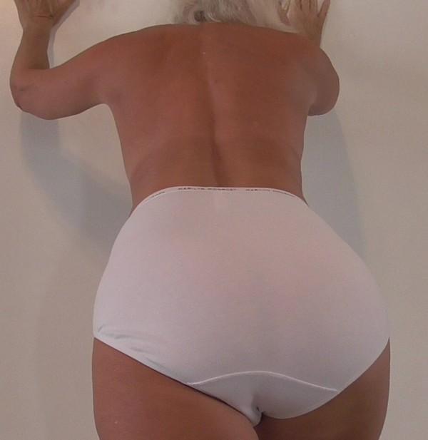 MARILYN MONROE WHITE COTTON GRANNIE PANTIES