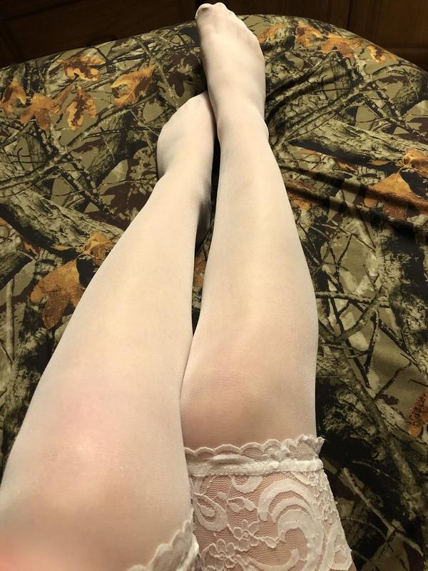 Silky white stockings