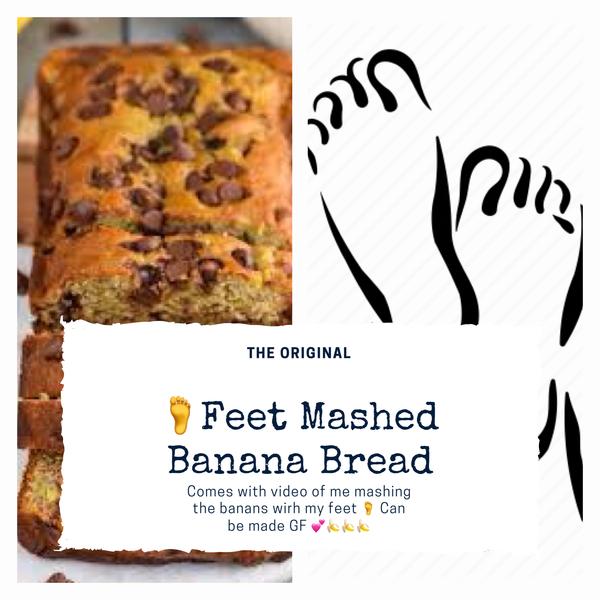 Feet Mashed Bananas in Banana Bread