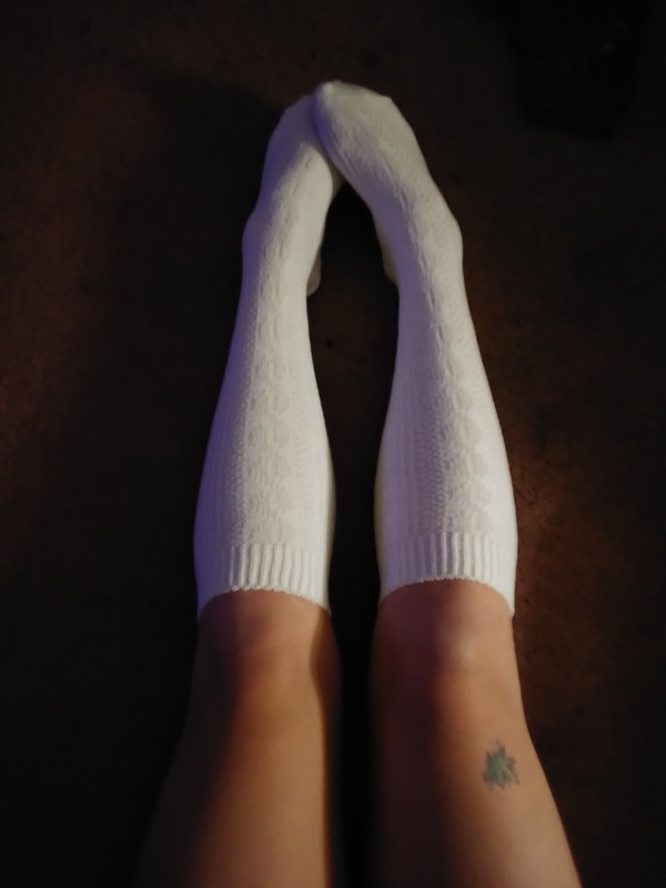 White knee highs