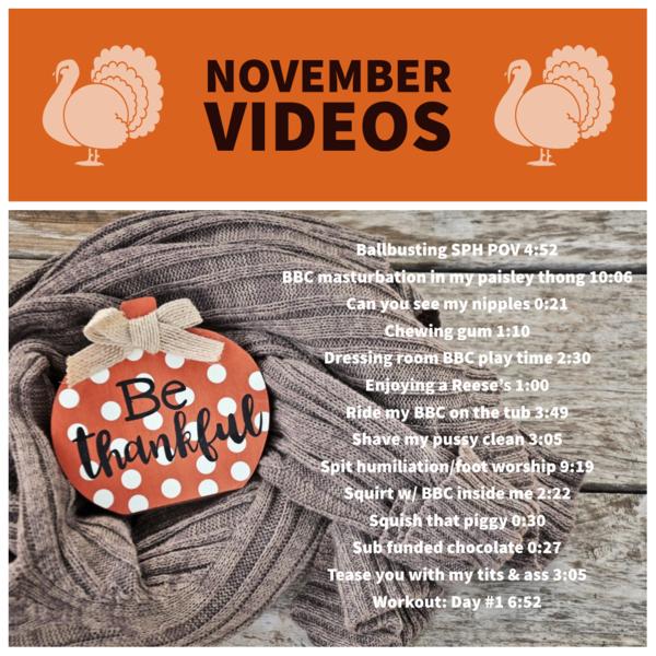 November Videos