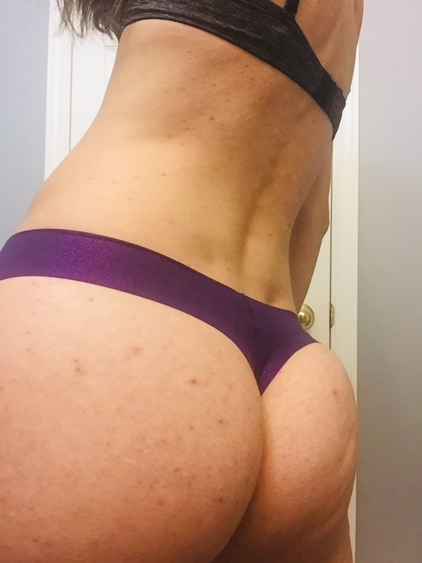 Purple sparkly thong