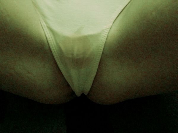 creamy wet  panties