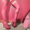 Ripped Red Seamed Stockings 4 Sissy or Sniffing