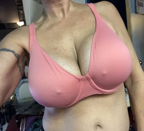 Super Soft Pink Non Padded Comfort Underwire Bra 36DD