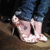 Blood splatter heels