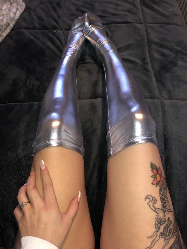 """Disco Diva"" Latex thigh highs"