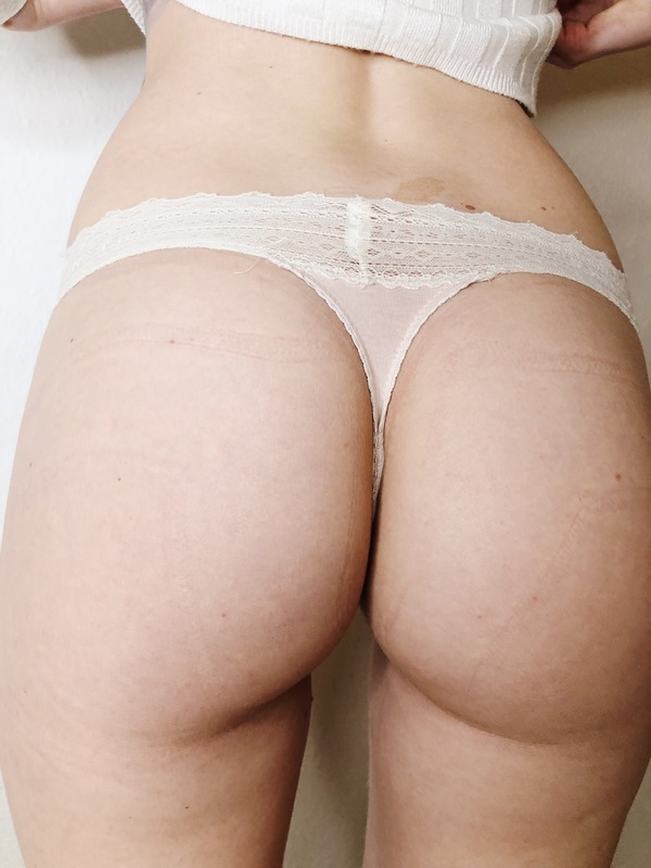 Sport Worn Lace Cotton Thong
