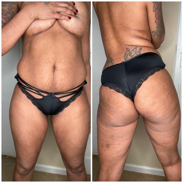 VS Black Lace Cheeky Panty