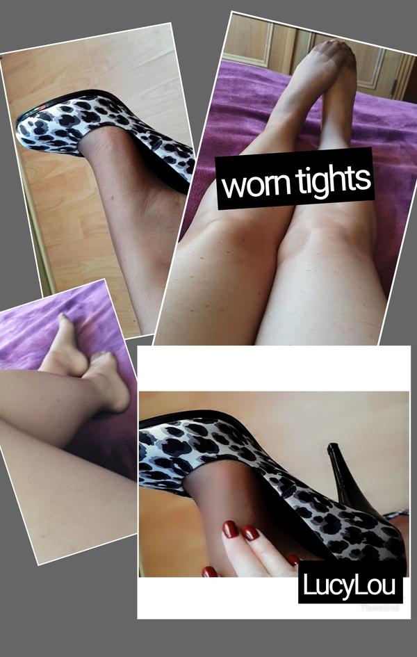 Mocha sheer work tights.