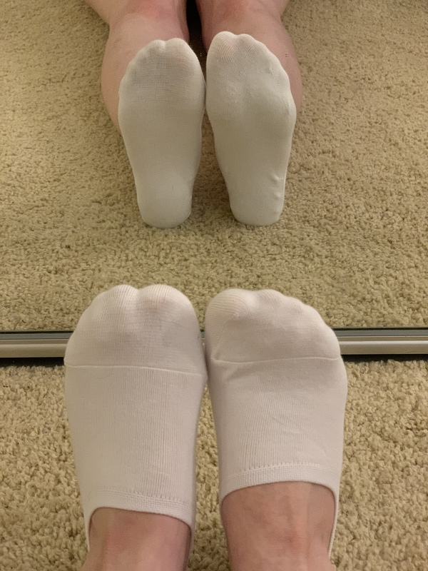 White socks ready to get filthy