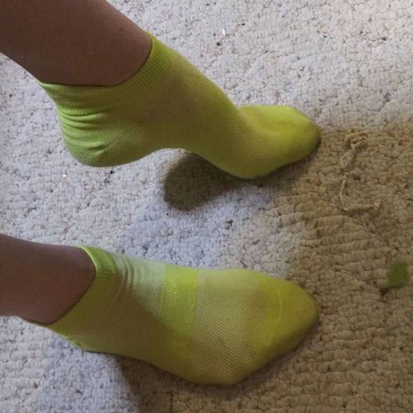 Lime green ankle socks