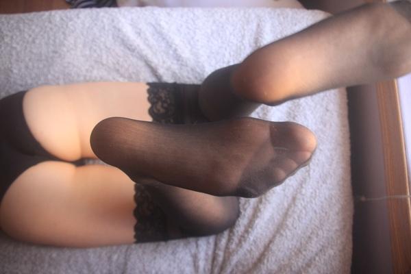 Black Nylon Stockings
