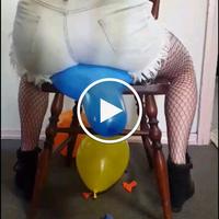 Balloon popping video