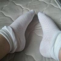 White Socks with zig-zag pattern