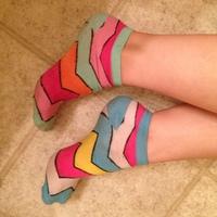 Mixed matched socks