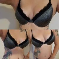 Black lace bra