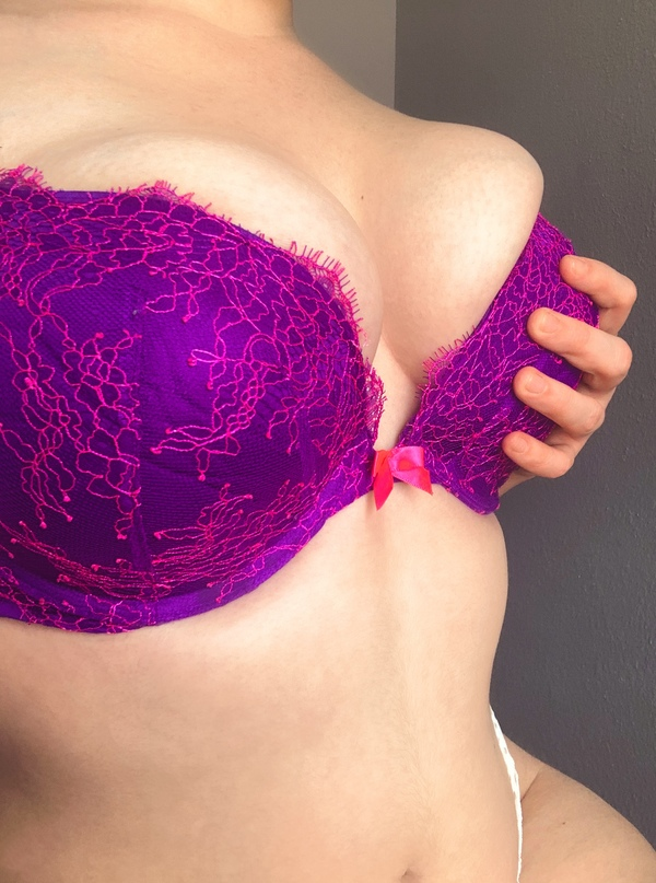 Purple lace Victoria's Secret bra