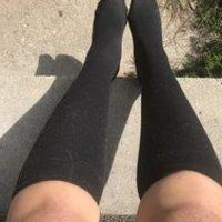 Black knee socks