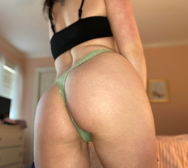 Mint Cotton Thong