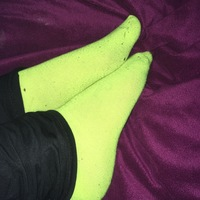 Bright Yellow Ankle Socks