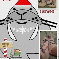 Christmas walrus socks!