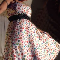SISSY~DRESS UP in My Sexy Pin Up Style Strapless Multi-Color Polka Dot~Size 12