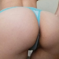 🍬Sweet Baby Blue Cotton and Lace Thong🍬