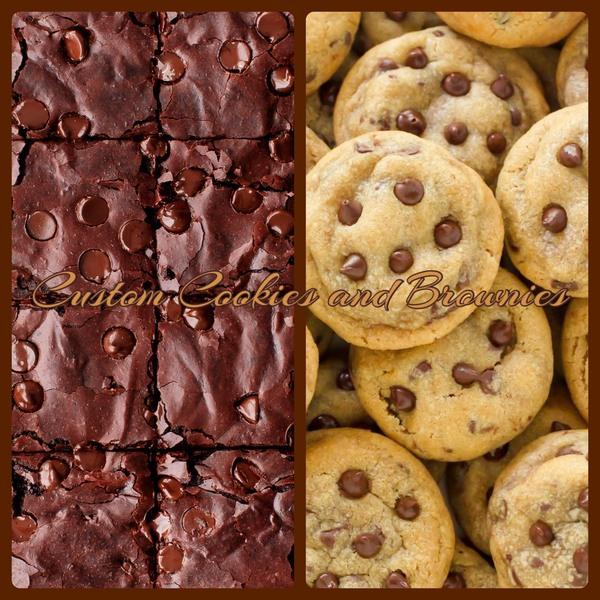 Custom Cookies and Brownies 💋