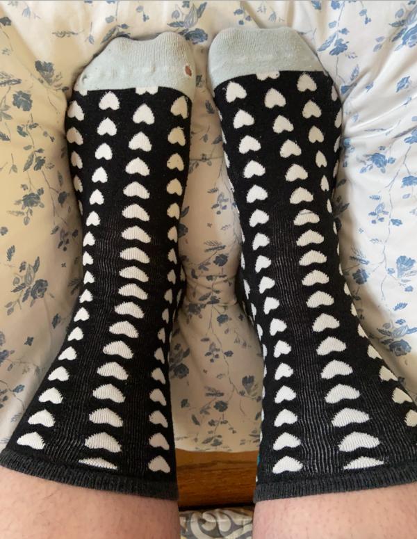 Love Heart Long Socks 🤍