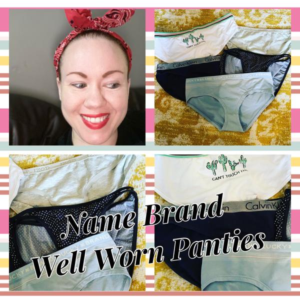 Name Brand Well Worn Panties