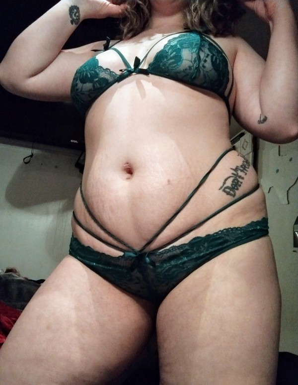 Green Strappy Lingerie