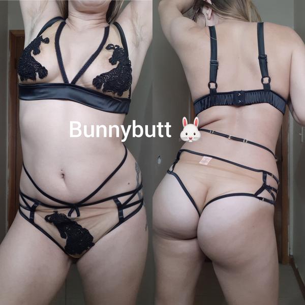Beige and black sheer tiger lingerie